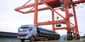 Hỗ trợ vận chuyển sắt thép về cảng sau khi nhận đơn hàng thép